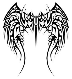 Tribal Angel Wing Tattoos