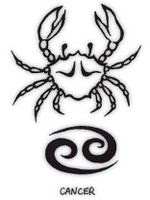 Astrological Sign of Cancer Tattoos