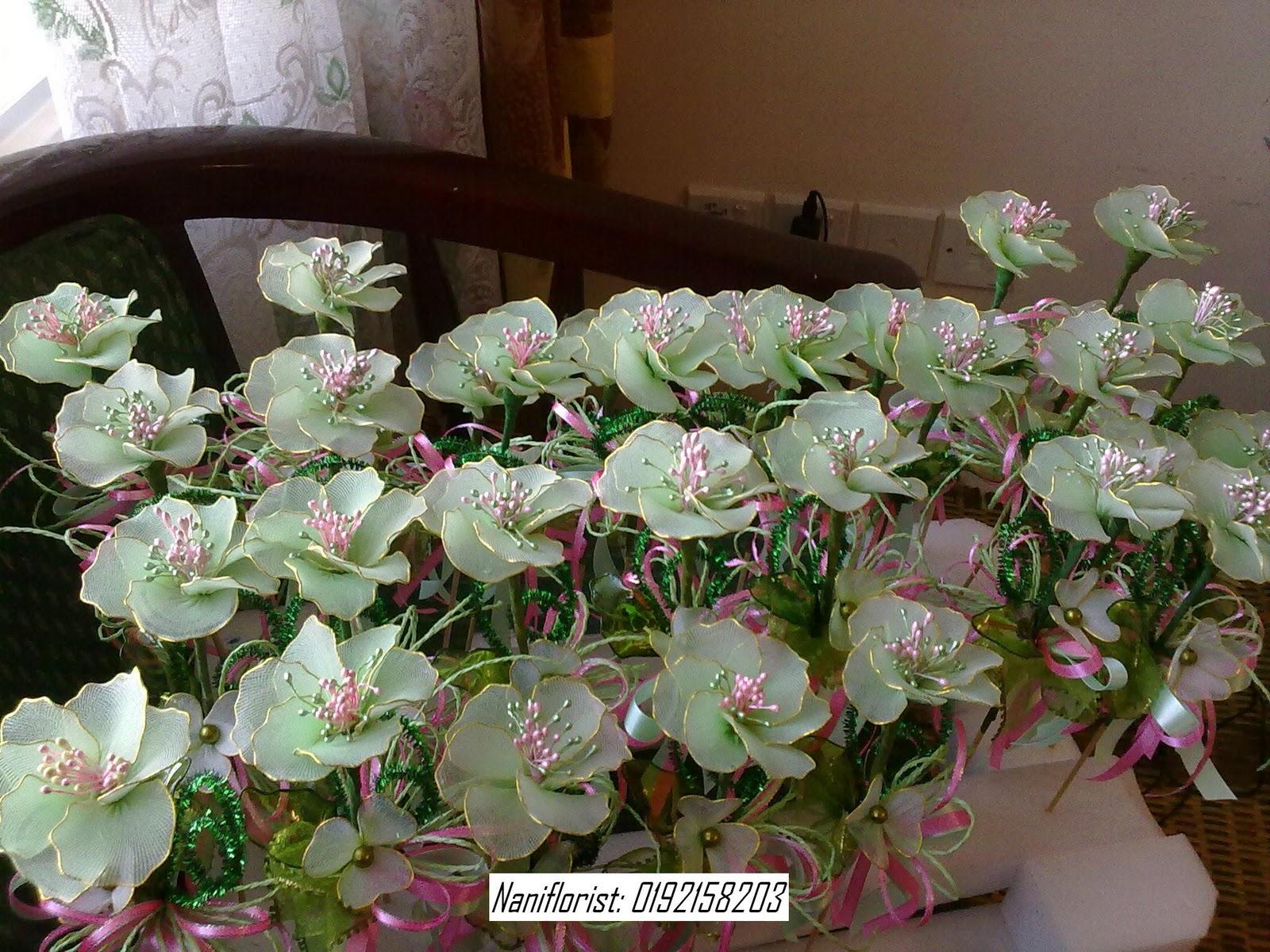 Nani Florist Bunga Pahar Stokin Hijau Apple