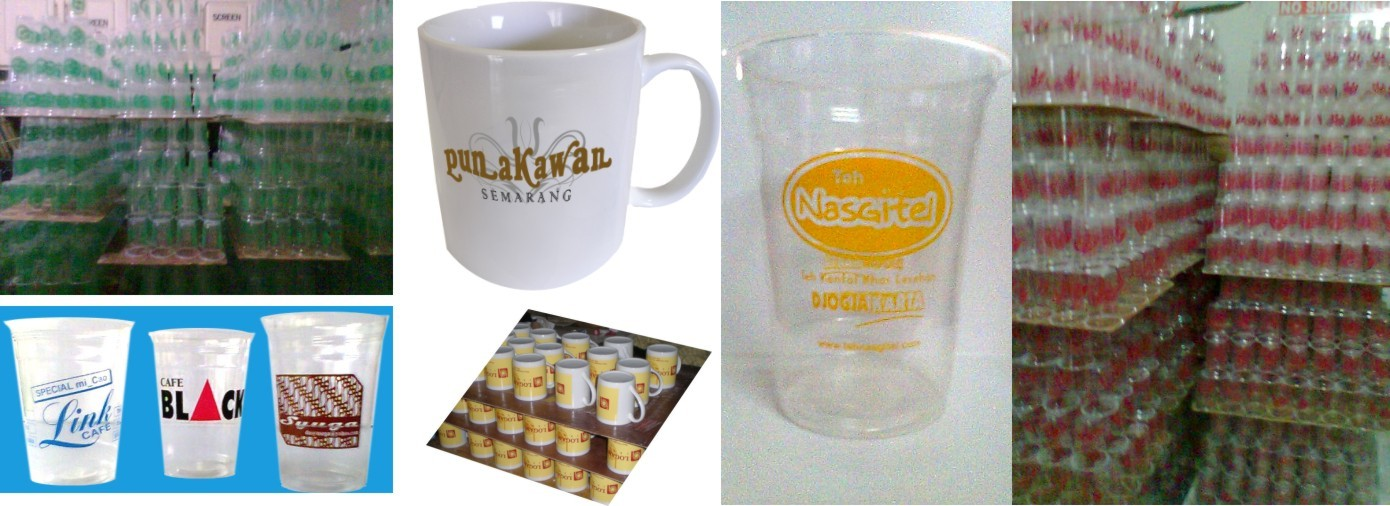 SABLON GELAS PLASTIK/PAPER CUP/BELING/MUG