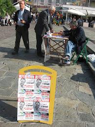 Piazza Colombo a Sanremo con.. Di Pietro e Mimmo!