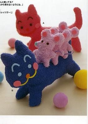 molde feltro gato rato