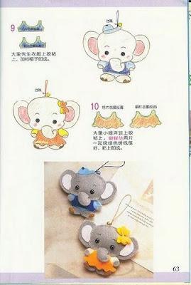 elefante feltro