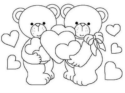 desenhos para colorir ursinhos fofos