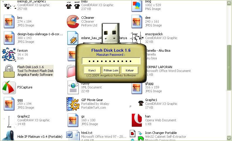 Software Aplikasi Untuk cara Mengunci flashdisk dengan Flashdisk lock ...