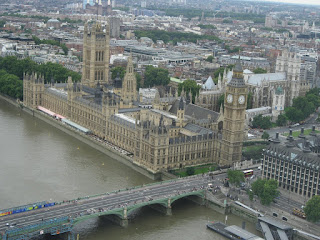 Westminster Abbey from the London Eye
