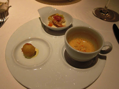 Seafood trio: Amuse bouche at Michael Mina