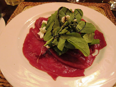 Carpaccio of springbok at Lekgotia