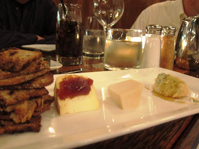 Artisan cheese at Willi's Seafood and Raw Bar Healdsburg