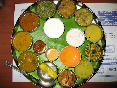 Special Thali at Saravana Bhavan