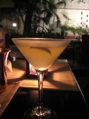 Curry Leaf Martini at the Taj Connamara