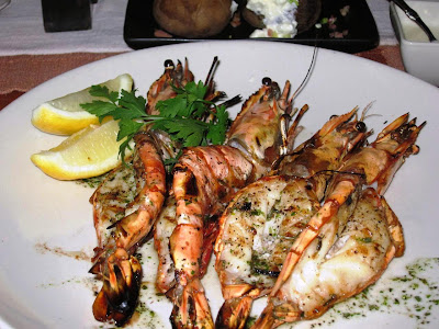 Grilled Tiger Prawns at Blu