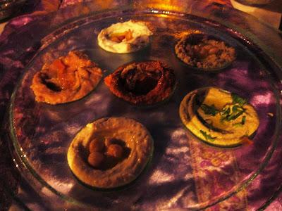 Mezze platter at Al Barakat