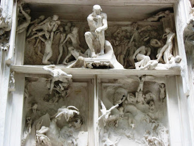 Detail of Gates of Hell by Rodin