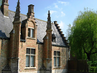 Unique brick houses of Bruges