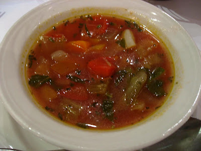 Minstrone Soup at Don Giovanni