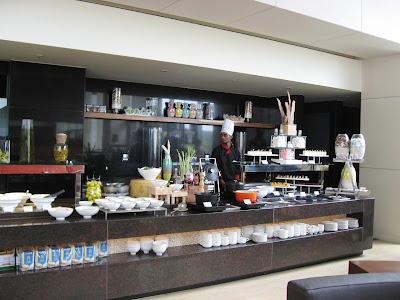 Buffet counter at in the Courtyard Marriott Pune