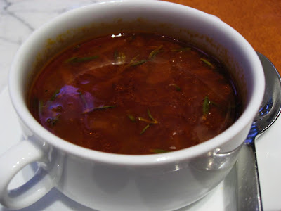 Sirloin Soup at Stax Hyatt Regency Mumbai