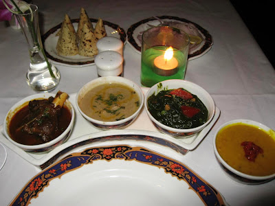 Dinner Spread at Dum Pukht Kolkata