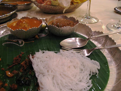 Idiappams and curries at Southern Spice