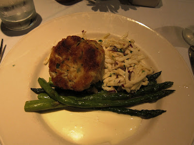 Jumbo crab cake at Old Ebbitt Grill