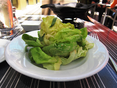 Butter Lettuce Salad at Chez Papa Resto