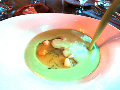 Sweet Pea Gazpacho at Murray Circle