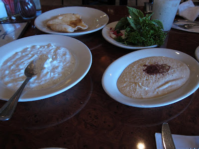 Tooftan bread, hummus and other delights at Kasra