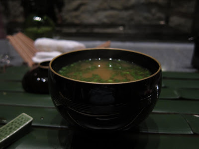 Miso soup at Edo Bangalore