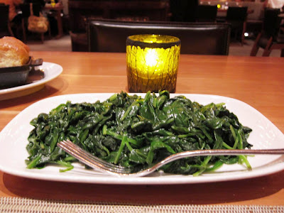 Baby spinach in butter garlic at Craftsteak Vegas