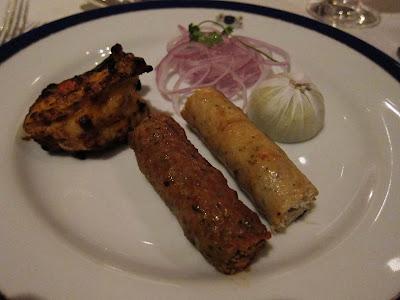 Kabab platter at Esphahan