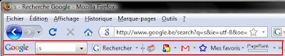 s barre outils google