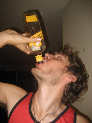 tom drinking rum
