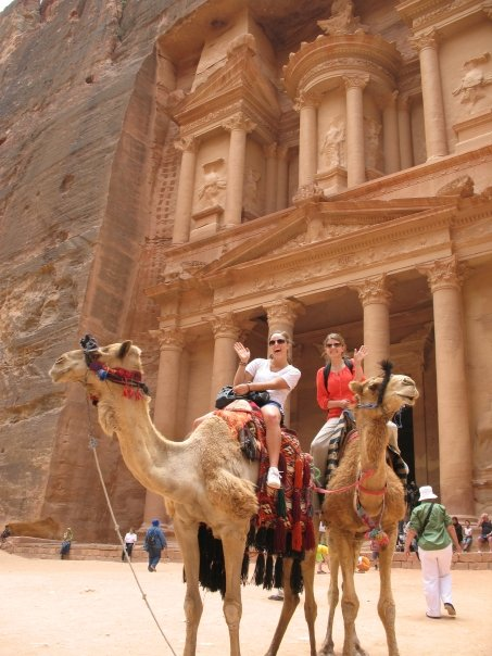 Petra treasury in Jordan.