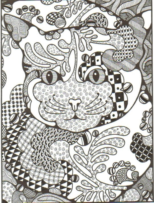 zentangle coloring pages for adults - photo#9
