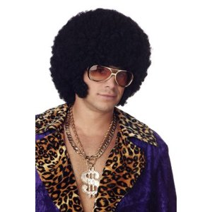 Afro Chops Black Mens Wig One Size