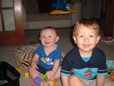 my 2 happy munchkins