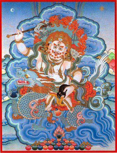 Buddhist White Jambhala