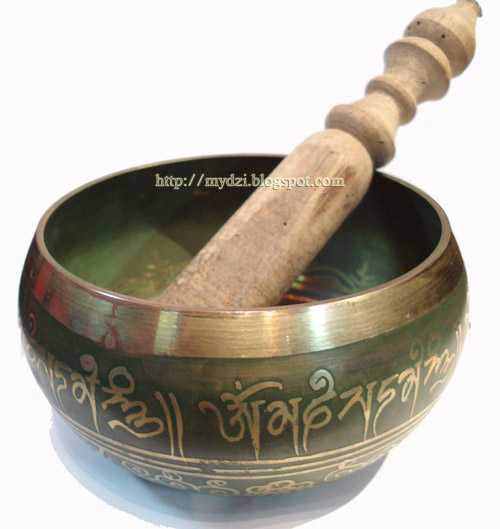 Buddhist SINGING BOWL (Green)