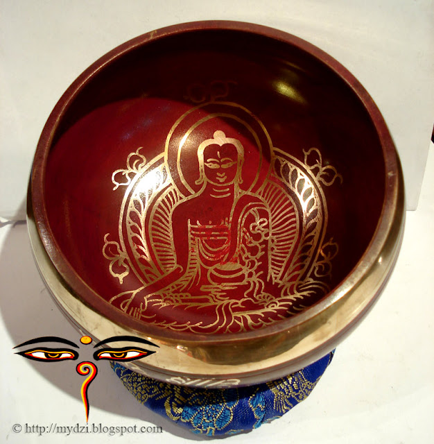 Buddhist Colourful SINGING BOWL (red)