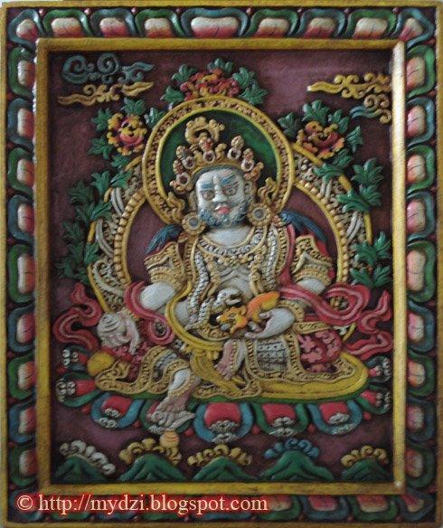 Buddhist Jambhala Wood Carving
