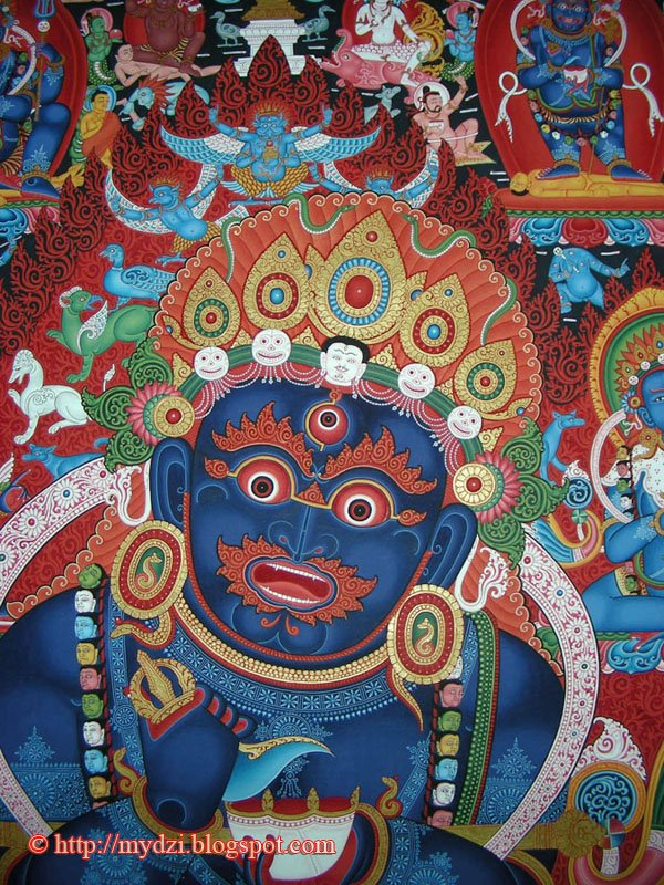 Buddhist Two Arms Mahakala Thanka