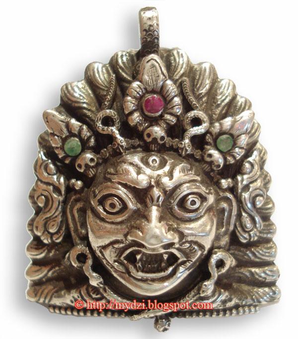 Buddhist Mahakala Face Pendent