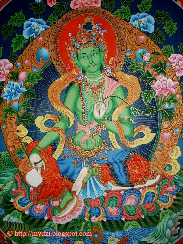 Newari Green Tara Thanka