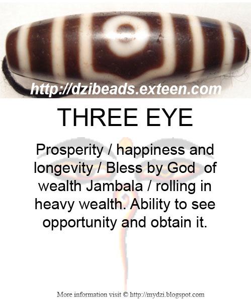 Three eye Dzi Meaning Card