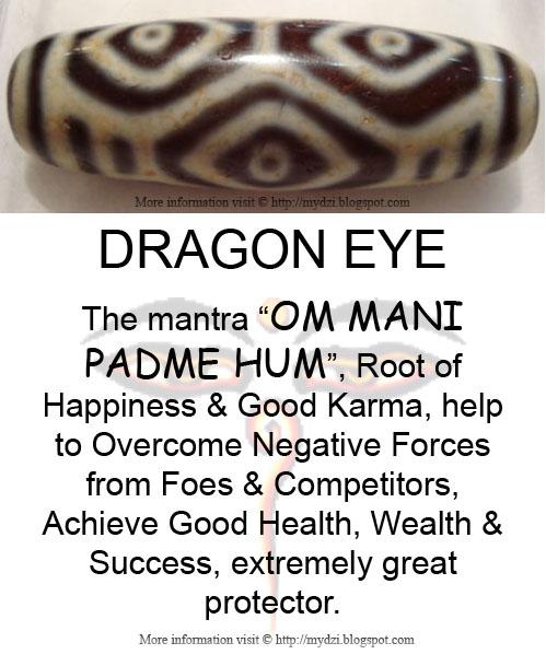 Dragon Eye Dzi Meaning Card