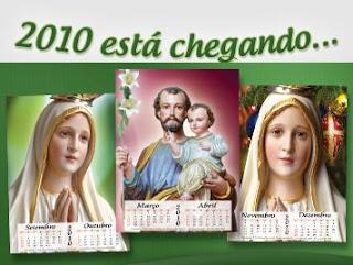 Brinde Grátis Calendários religiosos 2010