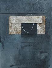 """Apercu""  - mixed media w/ collage on canvas"