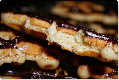 Gaufres-Biscuits Glacées au Chocolat - biscuits+gaufr%C3%A9s+gp