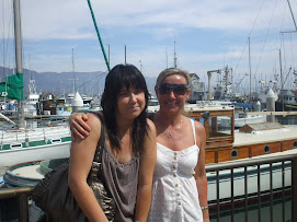 Penny with daughter Nicole - Santa Barbara harbour